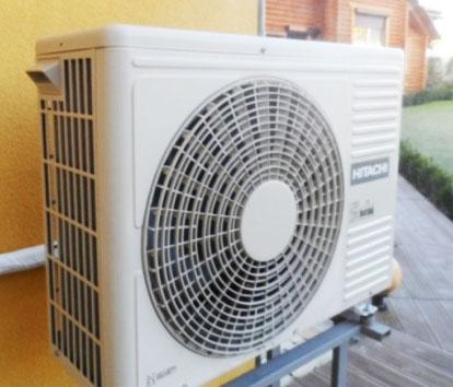 Пример установки теплового насоса Хитачи